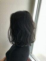 ディシェル(D'ciel)【D'cielオナギ」】前下り大人ボブX暗髪シースルーブラック