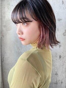 ノラキチジョウジ(NORA KICHIJOJI)の写真/カットに合わせたオシャレなデザインカラー◇色抜けがキレイなオリジナル配合が人気♪〈NORA KICHIJOJI〉