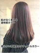 オレンジドロップ 長岡駅店(orange drop)大人可愛い艶髪ストレート♪肌色トーンアップの透明カラー