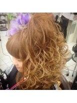 盛り髪(盛りヘア)の盛り髪セット画像