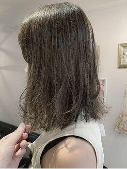 """ロータス ヘアデザイン(LOTUS hair design.)の写真/LOTUSの""""圧倒的透明感""""にきっと大満足♪トリートメントをプラスしてダメージレスに叶える艶感カラー◎"""
