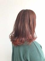 ヘアメイク オブジェ(hair make objet)インナーカラー レッド