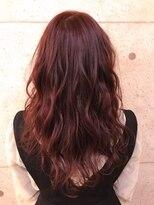 アールプラスヘアサロン(ar+ hair salon)愛されベリーPINKcolorゆるふわロング