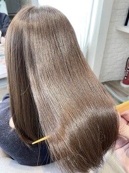 ブレスヘアーデザイン(BLESS HAIR DESIGN)の写真/オーガニックカラーで白髪もしっかり綺麗に染まり、理想以上の仕上がりが叶う☆