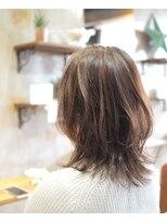 ノエル ヘアー アトリエ(Noele hair atelier)Noele×艶あるウルフミディ