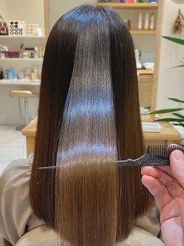 ビートル ナチュラル ヘア アンド アイラッシュ(Beetle natural)の写真/【勾当台公園駅徒歩5分】一人ひとりの髪質に合わせたヘアケアが可能◎ヘアケアメニューに特化したサロン