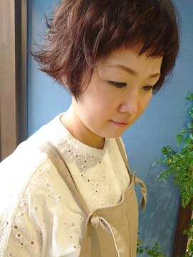 クブヘアー(kubu hair)《Kubu hair》ショートパーマ大人かわいいボブ