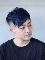 グリット ヘアプラスフォト(grit HAIR+PHOTO)【grit.】YOHEI WORKS (メンズショート×ブルー)