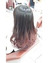 ヘアーアンドメイク ポッシュ 根岸店(HAIR&MAKE POSH)ピンクバイオレットグラデーション