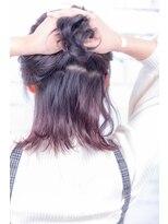 ヘアーメイク ダンス(hair make DANCE)#edol グレージュ グラデーション アクセントカラーピンク