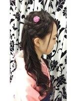 ヘアーアンドメイクサロン ハナココ(hair&make salon hana Coco)袴着付けハーフアップ