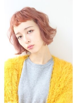 ヘアーニコル(hair nicole)ハイトーン×くせ毛風パーマ