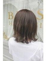 ブレスヘアーデザイン(BLESS HAIR DESIGN)アッシュベージュ×外ハネボブ
