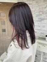 CIEN white 大橋「髪の毛に彩りを」ロングウルフマゼンタピンク
