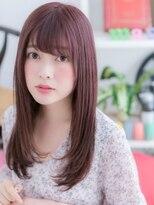 【macaron】ピンクパープル☆艶ストレートa
