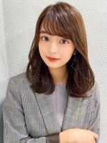 シェルハ(XELHA)アフロート斎藤 20代30代ミディアムヘア 流し前髪 前髪パーマ