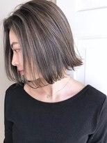 サロウィン 原宿(SALOWIN)【小玉】3Dハイライト × 首が綺麗に見えるボブ×グレージュ原宿