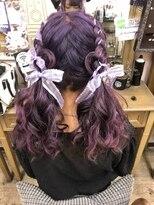 ヘアセットサロン アトリエ チャイ(Hair set salon atelier CHAI)編み込みツインテール♪ハートアレンジ