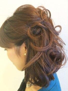 結婚式の髪型 ハーフアップ ハーフアップ