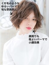 モッズヘア 越谷西口店(mod's hair)*mod's越谷*センターパート…外国人風ラフエアリーボブ!