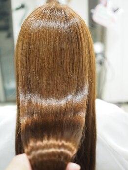 """ヘアーメイク リル(HAIR MAKE Lir)の写真/【新メニュー】[煌水]BIKAKU縮毛矯正☆髪本来の""""艶感""""と""""手触り""""を取戻し,圧倒的な美髪に導きます!"""