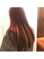ゴッサムヘアー(Gotham Hair)ボルドー×ベビーピンクハイライト