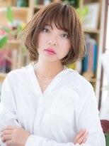 カバーヘア ブリス 北浦和西口店(COVER HAIR bliss)*bliss北浦和*くせ毛風カール×斜めバングのガーリーボブa