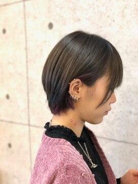 ヘアーデザイン ハック(HAIR Design HaC)【HaC】 セクションカラー×モーブピンク