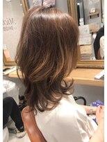 ソフトウルフ髪質改善簡単動くレイヤーツヤ髪カーブカット