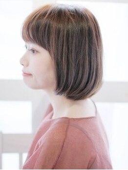ゴッドハンド 横浜店の写真/【しっとり艶々♪カット+VIPアルガンカラー¥6450】髪にも頭皮にも優しいオーガニック薬剤使用!