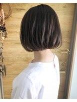 シキオ ヘアデザイン(SHIKIO HAIR DESIGN FUK)ラベージュボブ