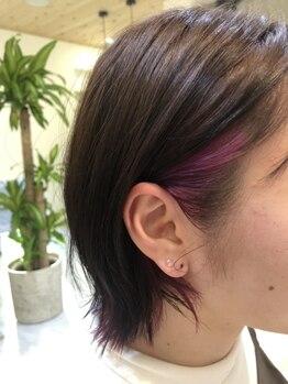 ルヴォール(Le'wohl)の写真/【佐久エリア】頭皮に優しい厳選した薬剤を使用*天然由来の力でダメージを抑えながら自然な発色の艶髪に♪