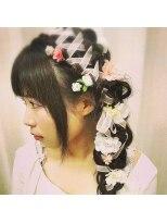 ヘアーアンドメイクサロン ハナココ(hair&make salon hana Coco)リボンお花お姫様ヘアー