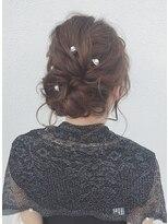 ヘアデザイン ダブル(hair design Double)およばれヘアアレンジ
