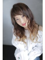 吉祥寺 アマンヘアー(Aman hair)グラデーションカラーXグラマラス カール【Aman hair】吉祥寺