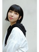 テテ ニコ(tete nico)黒髪丸みショートボブでオシャレ可愛く!