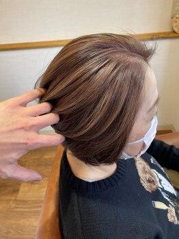 ロッタ ヘア アンド スパ(Lotta)の写真/いつまでもおしゃれを楽しんでほしいから。《Lotta》のグレイカラーでワンランク上の大人の女性髪に♪