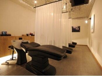 ココロヘアー 中島店(Cocolo hair)の写真/【極上の癒しを贈る‐Luxury Salon‐】15分or30分コースから選べるAujuaスパ★寛げるベッド型スパシート◎
