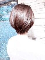 目黒新宿30代40代50代,Cカーブカット簡単に内巻きひし形ショート