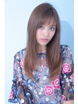 ジーナフクオカ(Zina FUKUOKA)☆Zina☆透けバング×無造作ストレート2