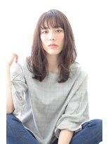 アルベロ(albero)【albero山崎愉美】シースルーバング×透明感カラー