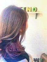 ヘアーメイク アフィーノ(hair make affino)ピンクヴァイオレット