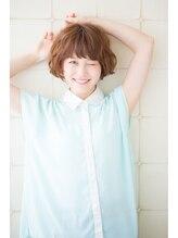 ヘアーリゾート ラヴィニール 新宿東口店(Hair Resort L´avenir)立体ショートボブ