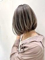 トルネード(TORNADO)外国人風ハイライトバレイヤージュ白髪ぼかし グレージュ t626