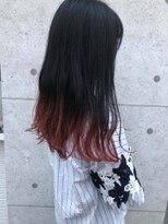 フェリアあべの(FERIA)裾カラーレッド