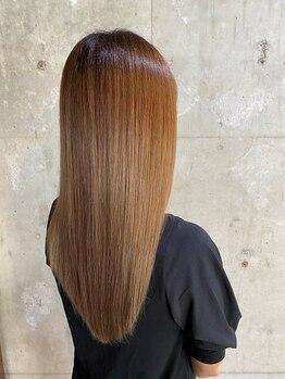 セクション(SECTION)の写真/【縮毛矯正でもなくトリートメントでもない】ダメージレスヘアエステで髪質改善!まとまり扱いやすい髪へ◎