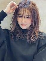 アグ ヘアー リノ 大名店(Agu hair reno)《Agu hair》ウェット質感のウェーブミディ