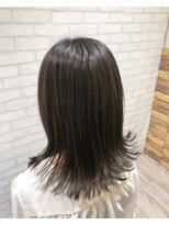 ヘアメイク シュシュ(Hair make chou chou)グレージュハイライトロブ【chou-chou 北林夏実】