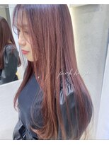 ロンドプランタン 恵比寿(Lond Printemps)おしゃれローズピンクカラー韓国ヘア