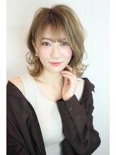 フィックスビューティーサロン エイル(Fix Beauty Salon aile)伸ばしかけにもおススメ☆ボブルフ/オリーブカラー/小顔